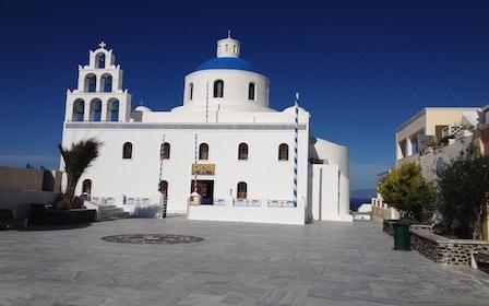 Famous Blue Dome, Imerovigli, Oia Sunset Tour