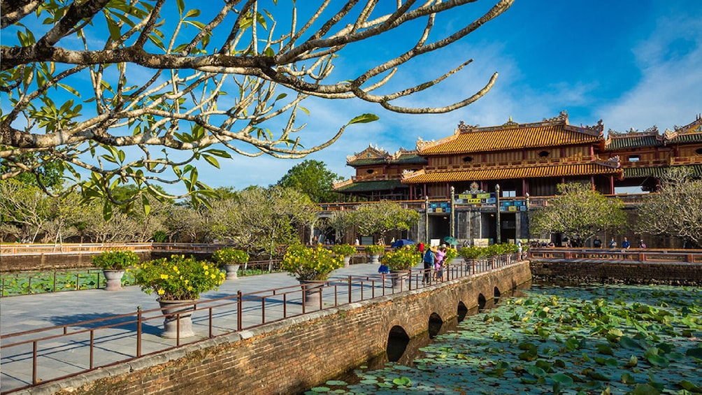 Show item 3 of 8. Bridge and entrance to the Imperial City in Hue, Vietnam