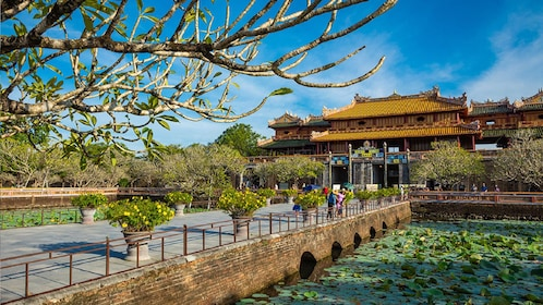 Bridge and entrance to the Imperial City in Hue, Vietnam