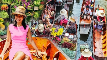 Damnoen Saduak Floating Market with Long-Tail Boat Options