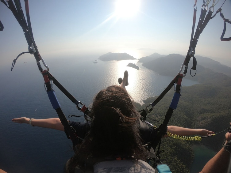 Show item 3 of 5. Paragliding over the Blue Lagoon