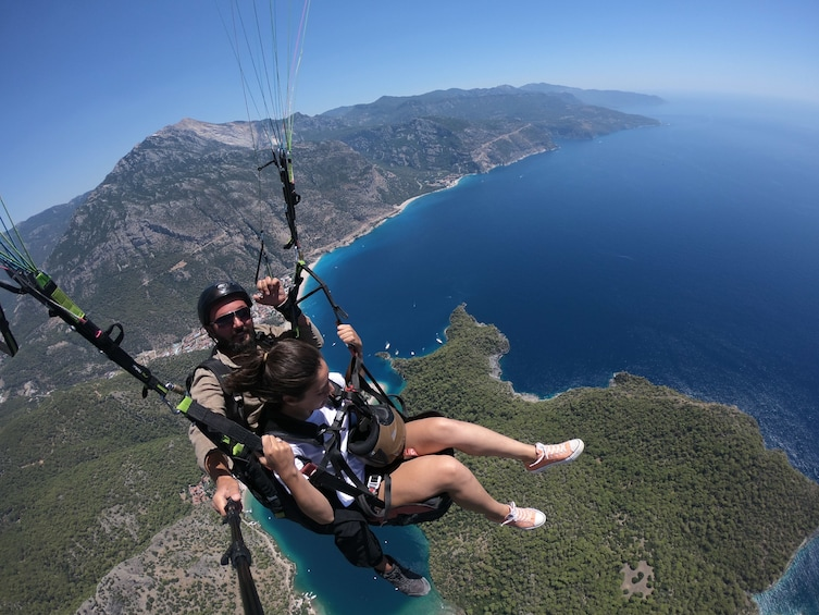 Show item 2 of 5. Paragliding over the Blue Lagoon