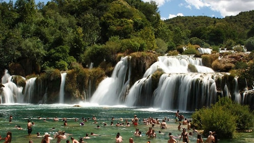 Krka Waterfalls & Skradin from Trogir and Okrug Gornji