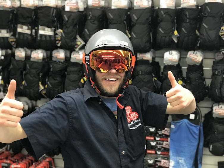 Show item 2 of 2. Winter Park Ski Rental Helmet Rental Beavers Sports