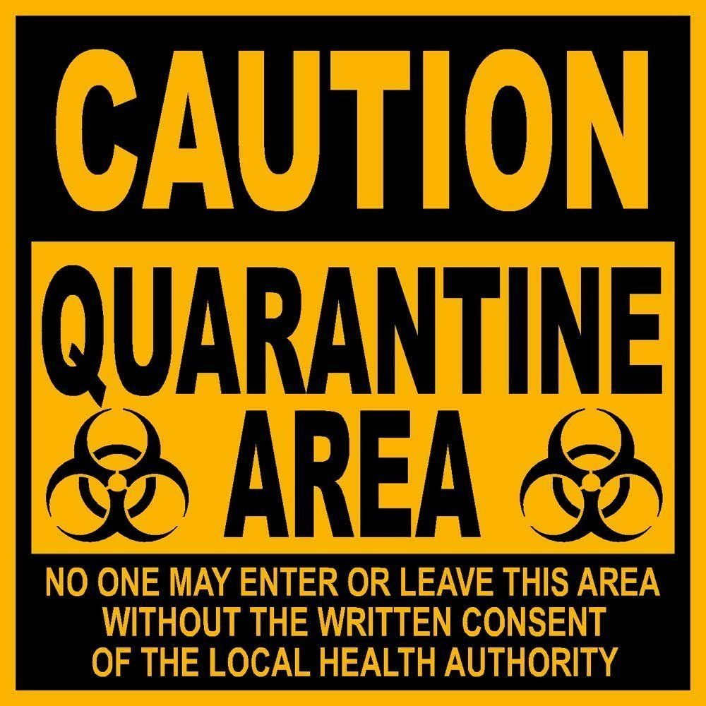 photograph about Quarantine Sign Printable identify Quarantine Medical center