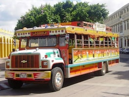 Panoramic City Tour in Traditional Colombian Chiva