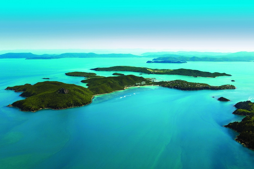 Show item 2 of 7. Aerial view of Hamilton Island on a sunny day