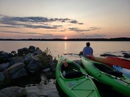 Guided Kayak Sunset Tour on Sebago Lake, Maine