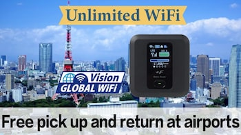 Unlimited WiFi in Japan pick up at Narita Airport Terminal 1