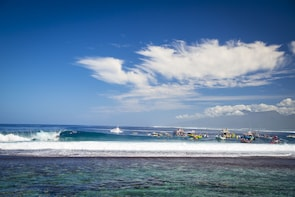 Tahiti Pro international surfing competition Taxi Boat