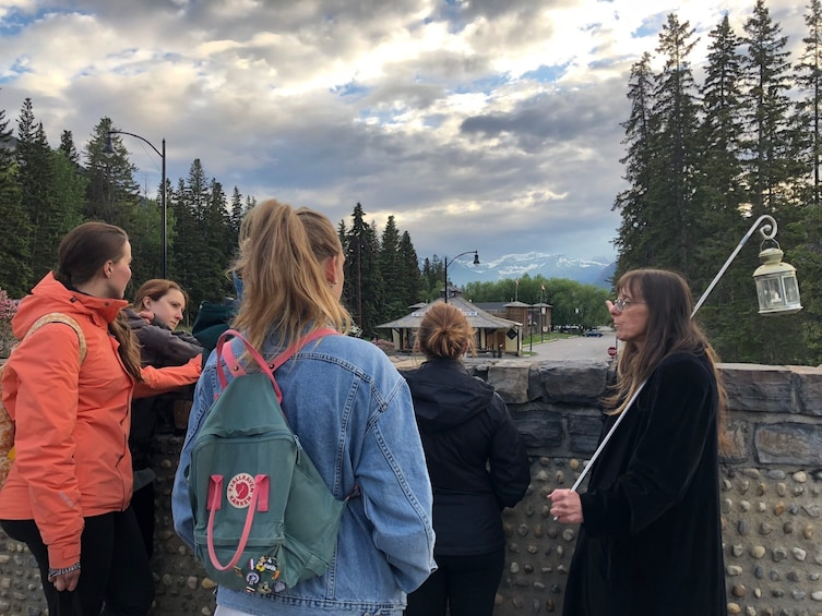 Group on a ghostly walking tour in Banff