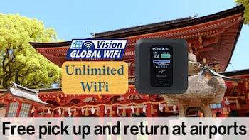 Japan WiFi Rental P/U Fukuoka Airport + Mobile battery
