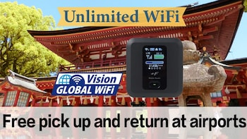 Unlimited Japan WiFi P/U Fukuoka Airport + Mobile battery