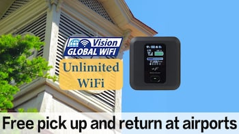 Unlimited Japan WiFi P/U New Chitose Airport +Mobile battery