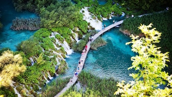 Split-Zagreb Small Group Tour with guide at Plitvice Lakes