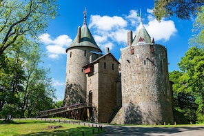 Walk a forest sculpture trail to a fairytale castle