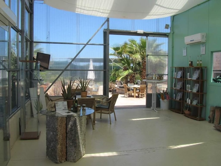 Small lobby of building in Mallorca, Spain