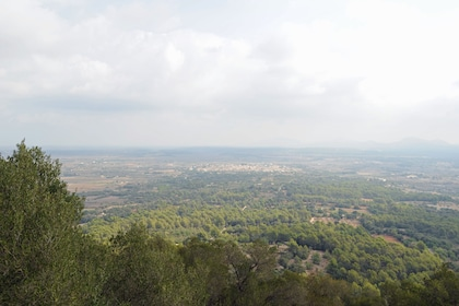 Panoramic view of Mallorca on a cloudy day