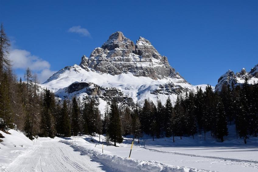 Frozen Lake Misurina Italy