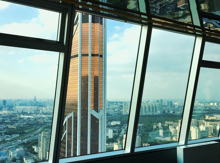 87 floor observation deck in tower of Moscow City Down Town