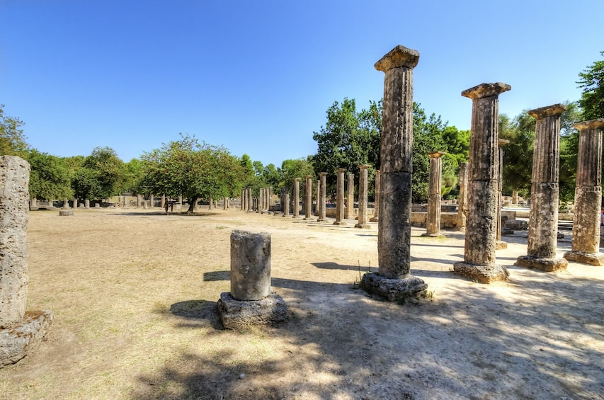 Show item 2 of 3. Ruins of the ancient site of Olympia, in Greece