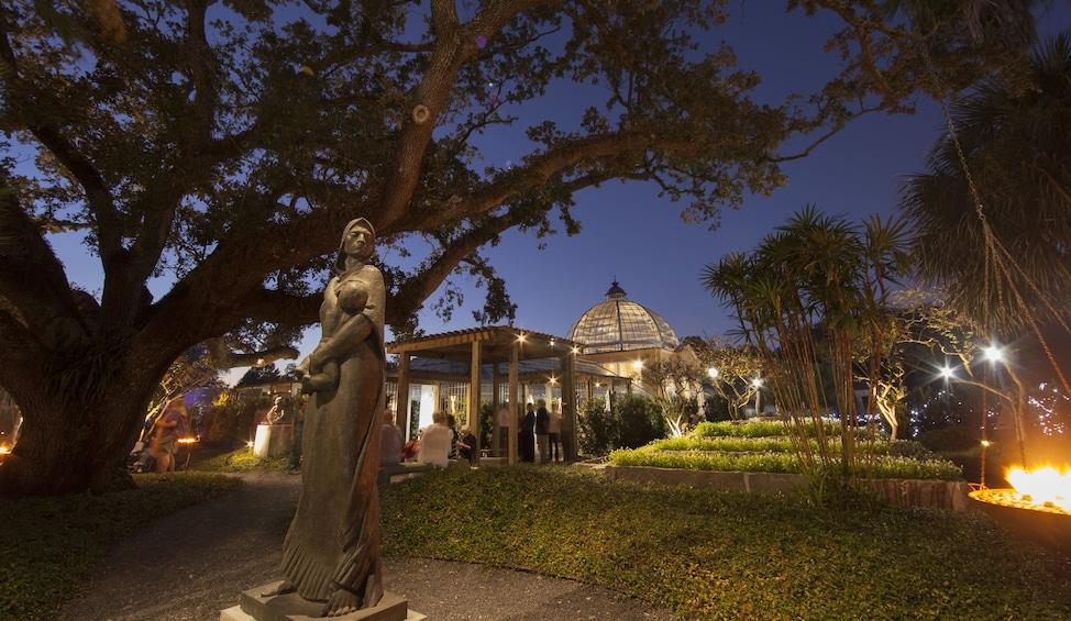 Show item 3 of 9. Enrique Alferez Sculpture Garden at night
