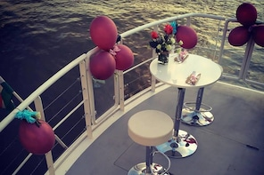 Romantic private boat trip for two