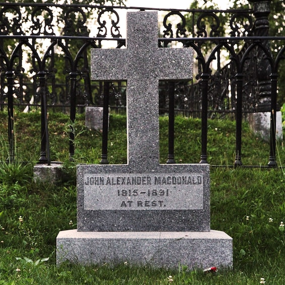 Show item 2 of 6. Grave of former Prime Minister of Canada, John Macdonald