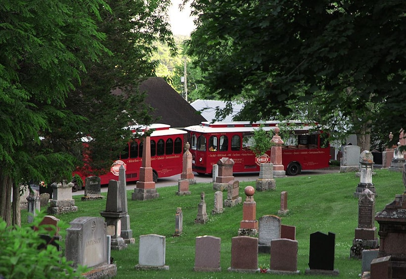 Show item 3 of 6. Cemetery with Kingston Trolley in the background