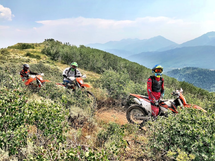 Show item 5 of 5. Single Track Motorcycle Tour in the Wasatch mountains