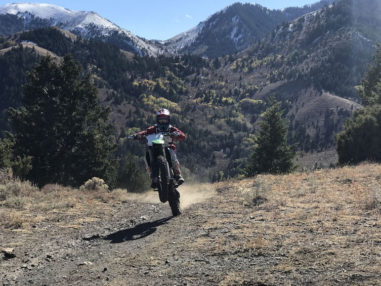 Show item 2 of 5. Single Track Motorcycle Tour in the Wasatch mountains