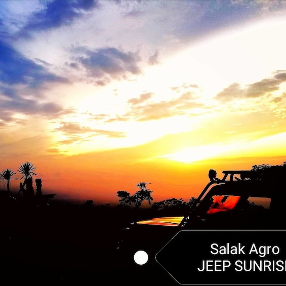 Jeep parked at sunrise in Bali