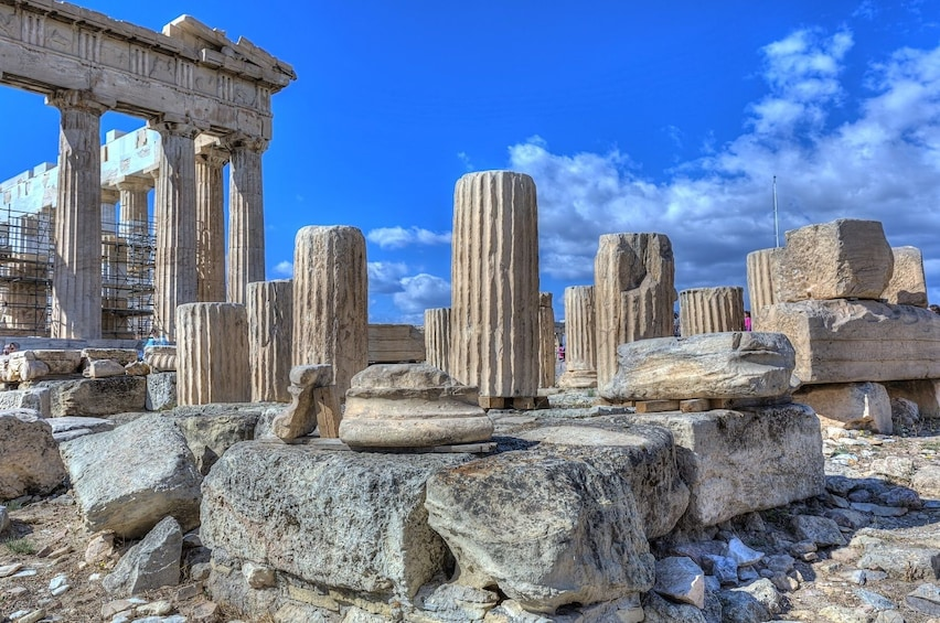Day view of the Acropolis Site in Athens