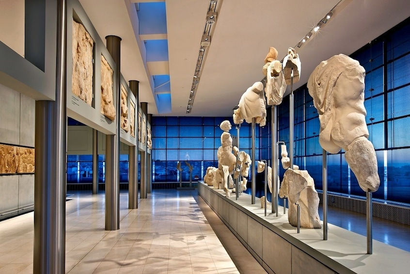 Inside view of the new Acropolis museum