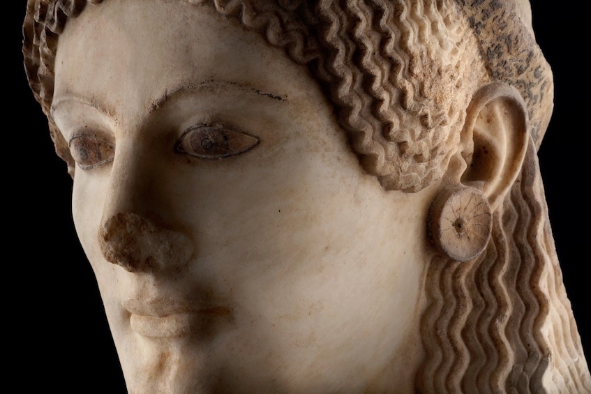 Statue at the Acropolis Museum in Athens, Greece