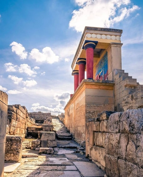 Show item 1 of 10. VIP Knossos Palace & Archaeological Museum with Wine Tasting