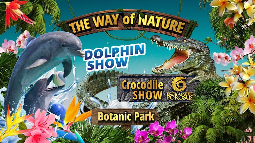 Show item 1 of 9. The Way of Nature: dolphins, flowers and crocodiles