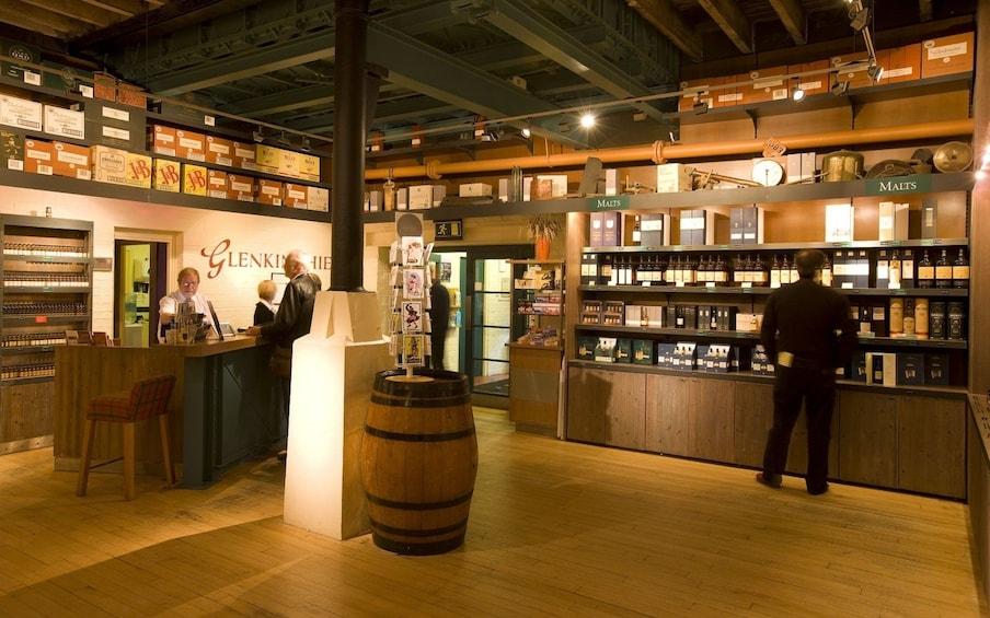 Show item 3 of 6. Shop inside Glenkinchie Distillery in Scotland