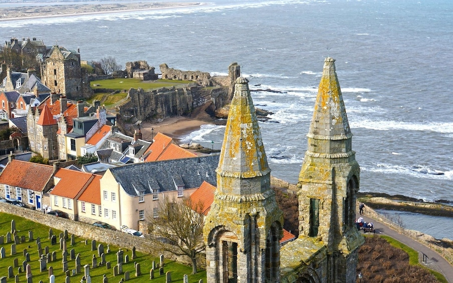 Show item 4 of 5. View of St Andrews Cathedral & Castle from St Rule's Tower
