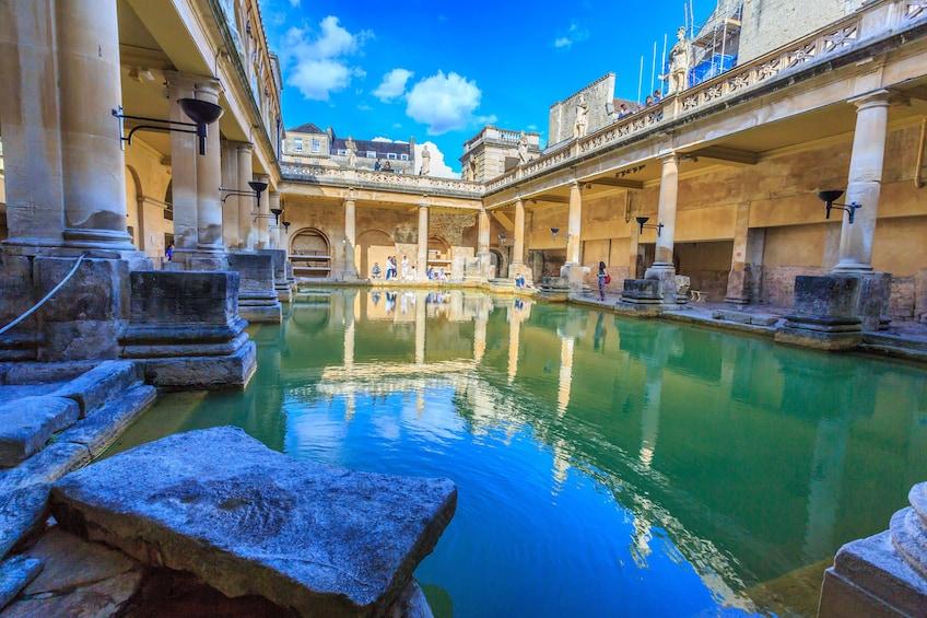 View of the Roman Baths