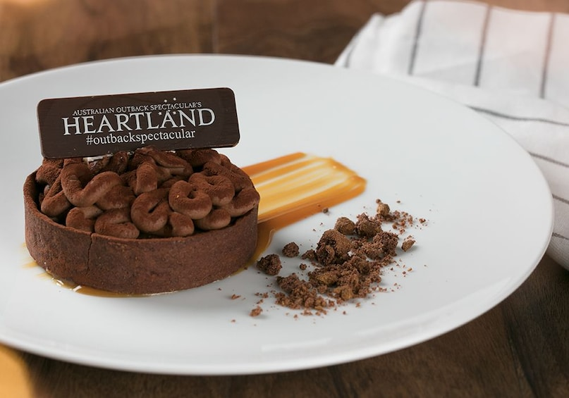 Dessert served at the Australian Outback Spectacular