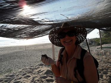 Zihuatanejo Baby Sea Turtle in your hand.JPG