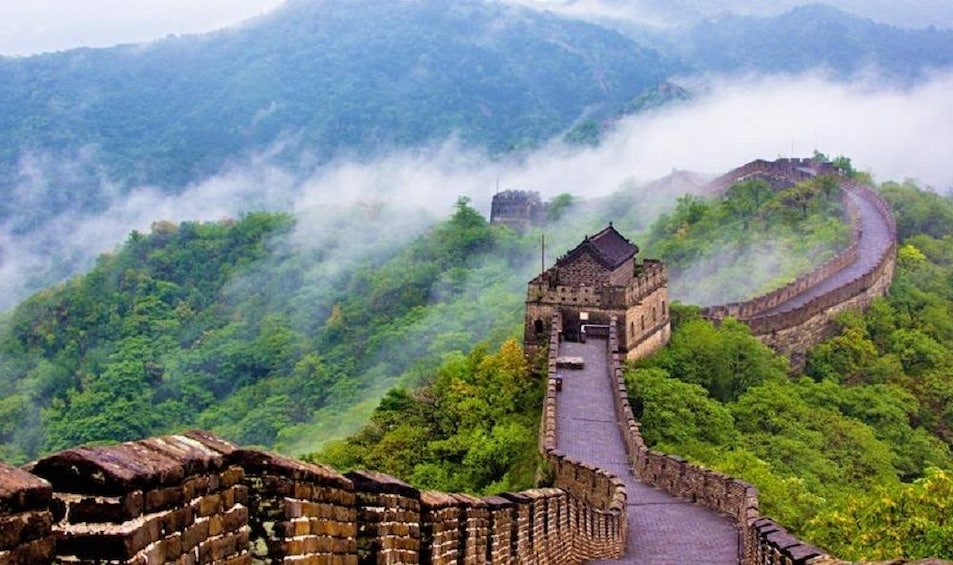 Show item 4 of 5. Mutianyu Great Wall share tour with cable car and lunch