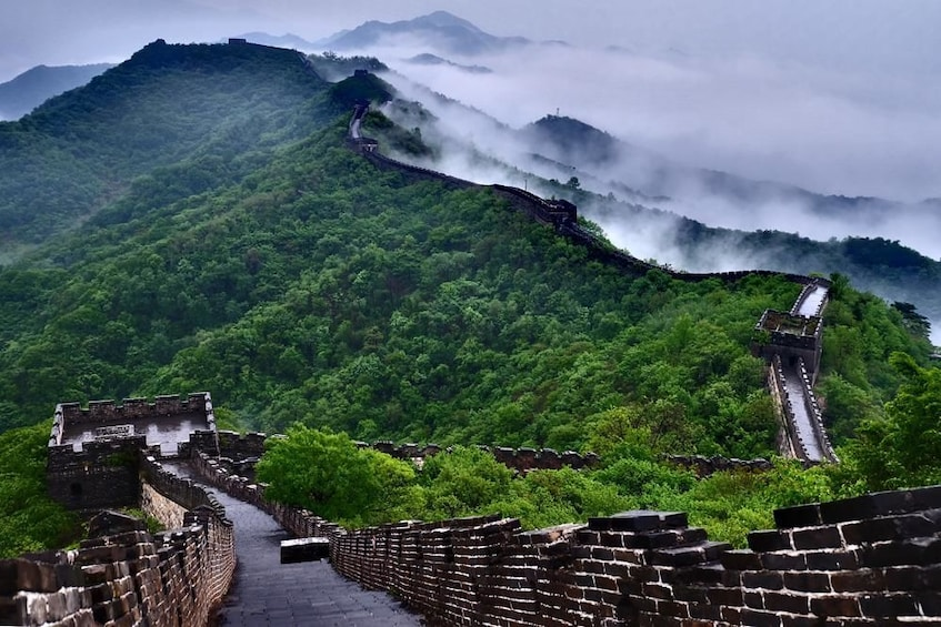 Show item 2 of 5. Mutianyu Great Wall share tour with cable car and lunch