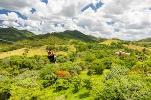 Extreme Ziplines Adventures from Bayahibe