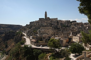 Matera at the sunset