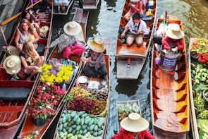 Floating Market Damnoen Saduak half day group tour from BKK