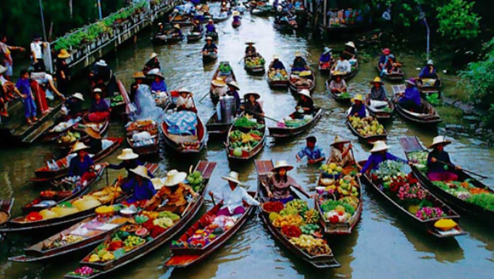Show item 1 of 8. BANGKOK: DAMNERN SADUAK FLOATING MARKET, HALF DAY TOUR