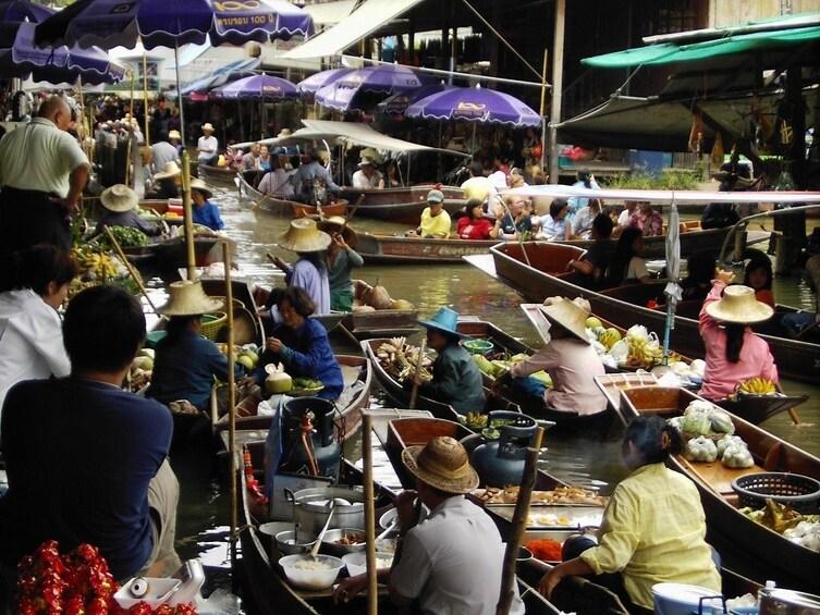 Show item 2 of 8. BANGKOK: RISKY MARKET AND DAMNERN SADUAK FLOATING MARKET