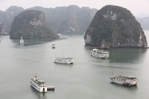Cruising in Ha Long Bay in a day